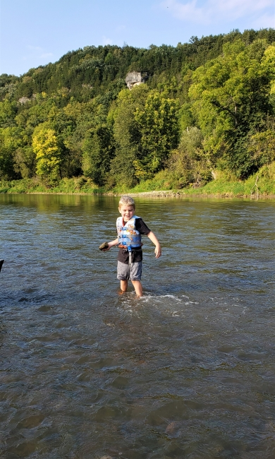 Playing in the Root River