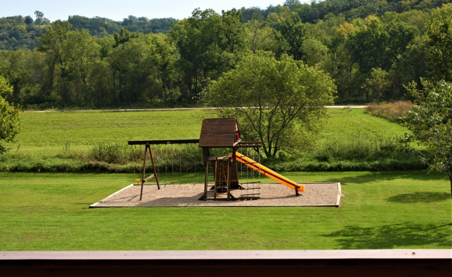 Playground view from main level deck