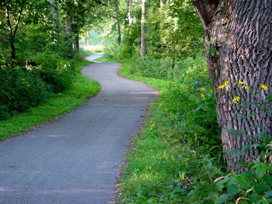 winding bike trail